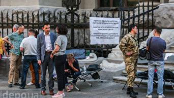 Как фракция Самопомич голодает под Администрацией президента