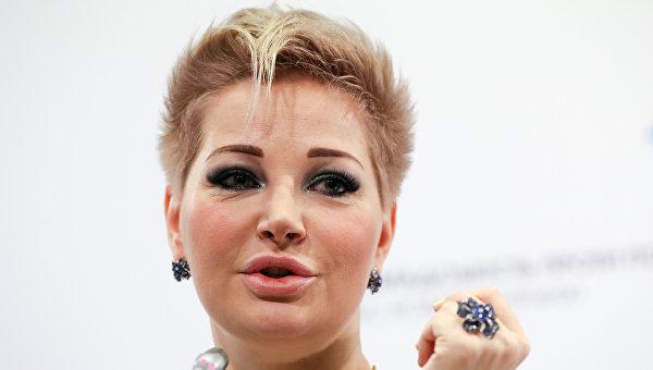 Оперная певица, экс-депутат Госдумы Мария Максакова во время пресс-конференции в Киеве