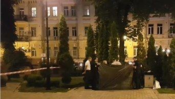Убийство участника АТО в центре Киева. Видео