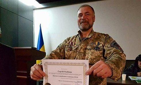 Убитый в Киеве начальник разведки 1-го батальона 54-й ОМБР Сергей Олейник