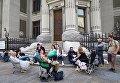 Голодовка у здания Администрации Президента в Киеве