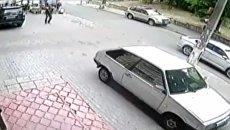 Момент взрыва джипа в Киеве, Видео