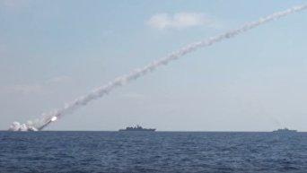Удар крылатыми ракетами Калибр ВМС России по объектам Иг в Сирии. Видео