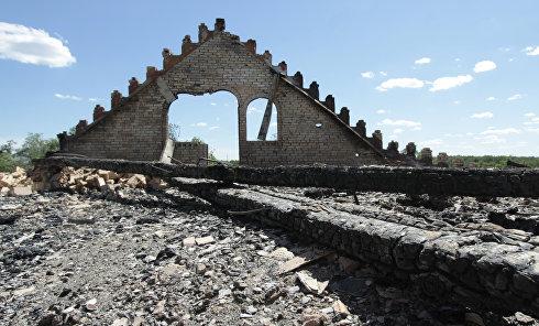Обстрелы в Донецкой области. Архивное фото