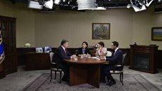 Президент Петр Порошенко дал интервью телеканалам