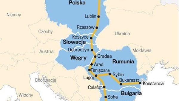 Проект международного транспортного коридора Via Carpatia
