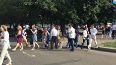 Преподаватели вуза перекрыли дорогу в Черкассах в ходе протеста