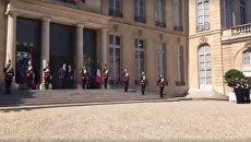 Встреча Порошенко и Макрона началась в Елисейском дворце