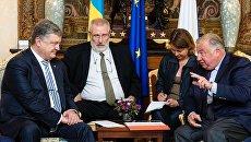 Встреча Петра Порошенко с французскими сенаторами