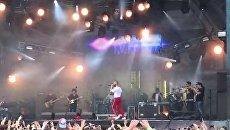 Дорн выступил на фестивале в России