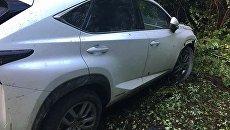 Автомобиль, который пытался прорваться на Закарпатье