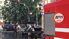 Взрыв автомобиля в Соломенском районе Киева