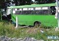 В Черкассах выпускники угнали автобус и разгромили кладбище