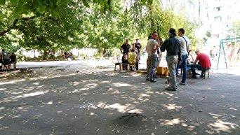 На месте убийства детей в Одессе