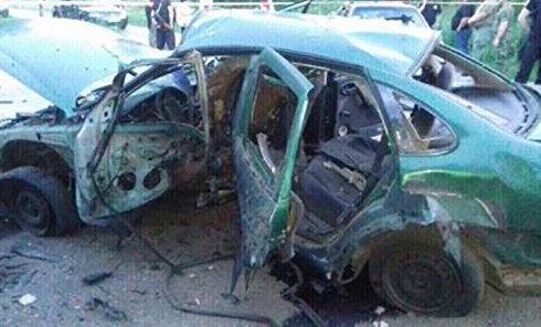 Взрыв авто с сотрудниками СБУ в Донецкой области