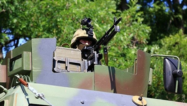 Бронеавтомобили, спецтехника и борцы с террором из Нацгвардии в Одессе