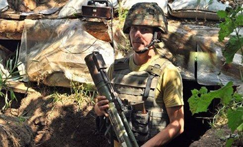 Украинские военные на передовой под Мариуполем