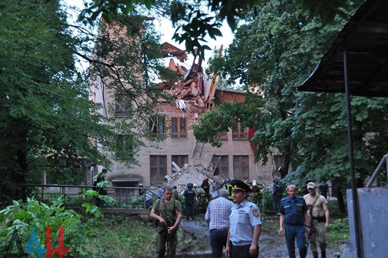 Обрушение Донецкого университета