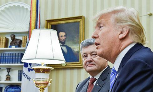 Порошенко и Трамп. Архивное фото