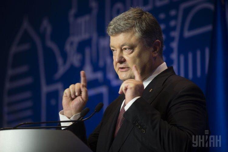 Президент Петр Порошенко на торжественной встрече Ассоциации городов Украины