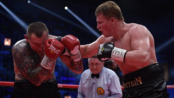 Александр Поветкин (Россия) и Андрей Руденко (Украина) в титульном поединке за титулы WBO International и WBA International