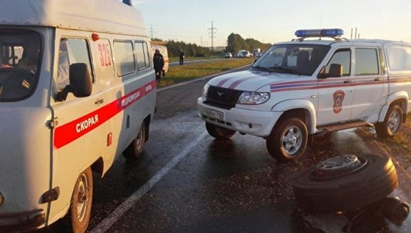 Автобус и грузовик столкнулись в Татарстане