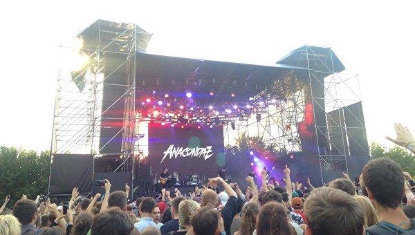 Выступление российской группы Anacondaz на фестивале Atlas Weekend в Киеве