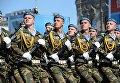 Военнослужащие Вооруженных сил Белоруссии во время генеральной репетиции военного парада в Минске. Архивное фото