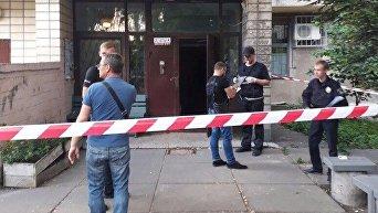 На месте убийства мужчины в Киеве