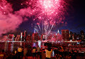 Салют в честь Дня независимости США