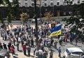 Пенсионеры перекрыли улицу Грушевского возле Кабмина