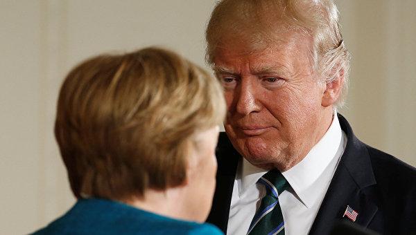 Встреча Меркель и Трампа. Архивное фото