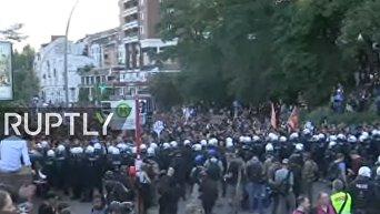 Антикапиталистическая демонстрация в Гамбурге. Видео