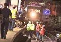 В Нью-Йорке поезд сошел с рельсов