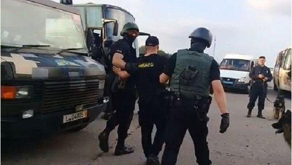 Задержание бойцов Донбассав Кировоградской области