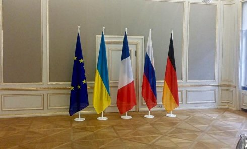 Флаги стран-участниц Нормандской четверки