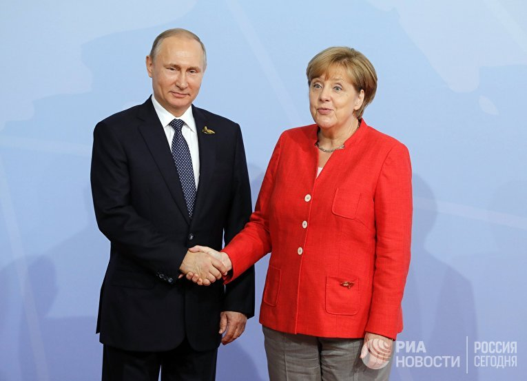 Президент РФ В. Путин принимает участие в саммите Группы двадцати в Гамбурге