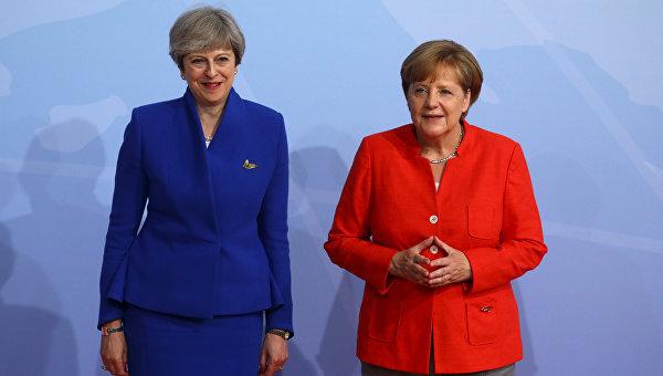 Тереза Мэй и Ангела Меркель. Архивное фото