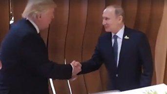 Рукопожатие Трампа и Путина. Видео