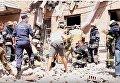 Момент взрыва дома в Киеве и последующая ликвидация последствий. Видео