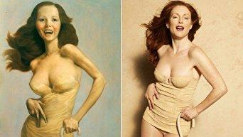 Американская актриса в модных интерпретациях картин великих мастеров