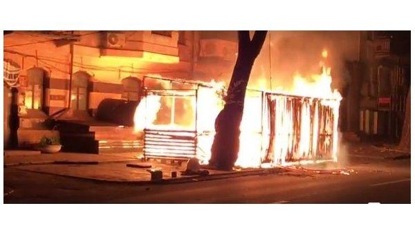 В Днепре произошел пожар в пиццерии Pizza Veterano, где работают ветераны АТО