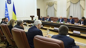 Встреча генсека ООН Антониу Гутерреша и премьера Украины Владимира Гройсмана