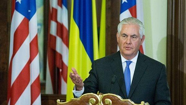 Госсекретарь США Рэкс Тиллерсон в Киеве
