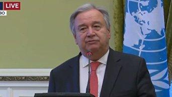 Брифинг Порошенко и генерального секретаря ООН Гутерреша по итогам встречи