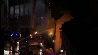 Крупный пожар в центре Лондона. Видео