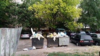 В Запорожье бомжи формируют мусорные бригады