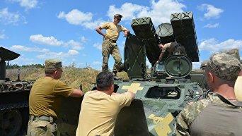 Учения 79 десантно-штурмовой бригады ВСУ
