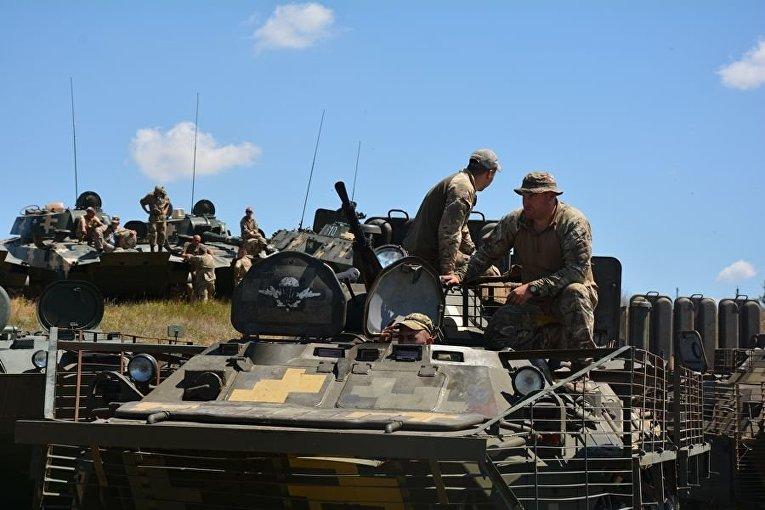 Учения 79 десантно-штурмовой бригады ВСУ под Николаевом