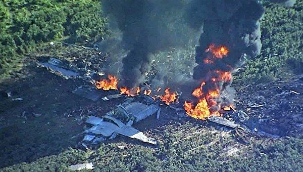 Крушение военно-транспортного самолета в Миссисипи